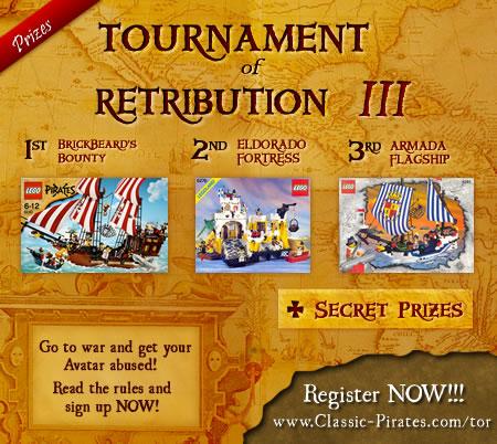 Tournament of Retribution prizes pool