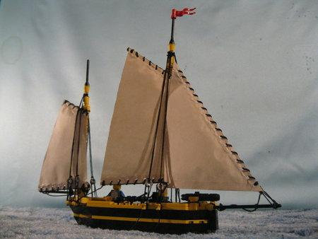 Lugger gun boat Adder