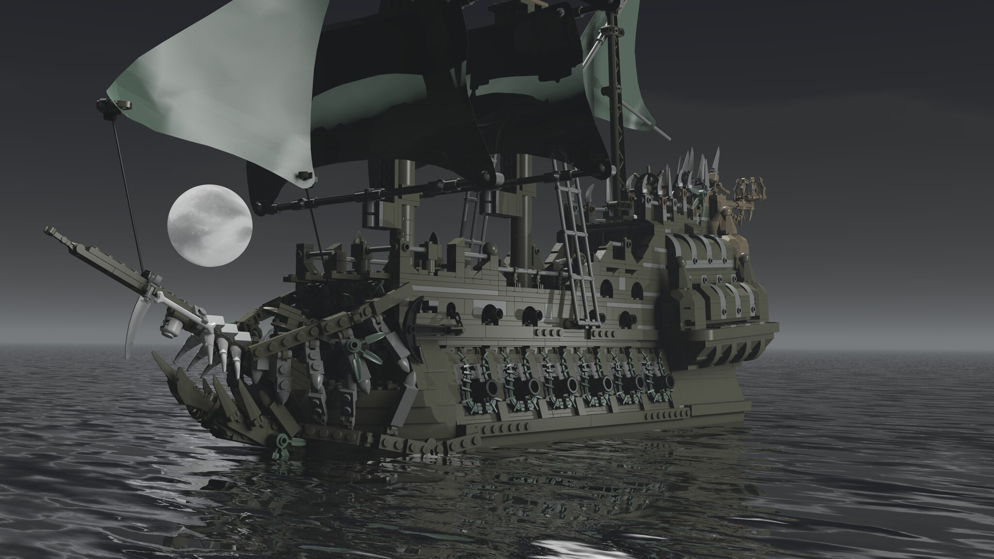 "Render of ""The Flying Dutchman"" by ZedKay"