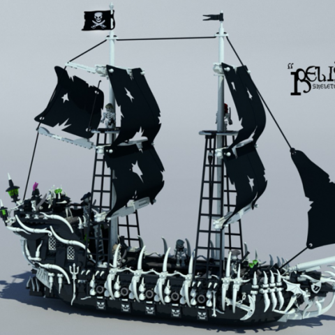 "Thumbnail Image of ""Belisarius Skeleton Pirate Ghost Ship"" by Delusion Brick"