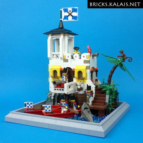 "Thumbnail Image of ""Bluecoats Small Fort and Hidden Pirate"" by Kalais Bricks"
