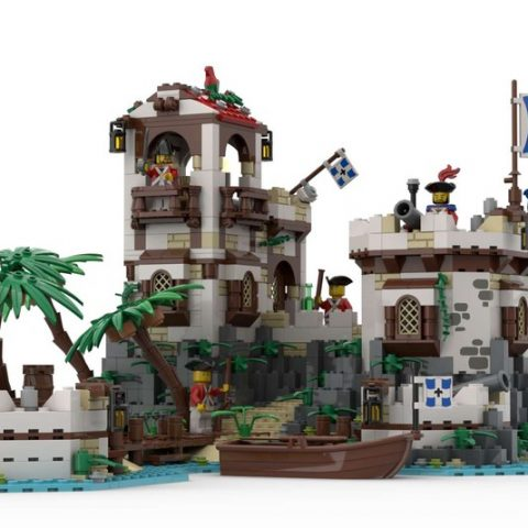 "Thumbnail Image of ""Imperial Island Fort"" by BrickHammer reaches 10K on LEGO Ideas"