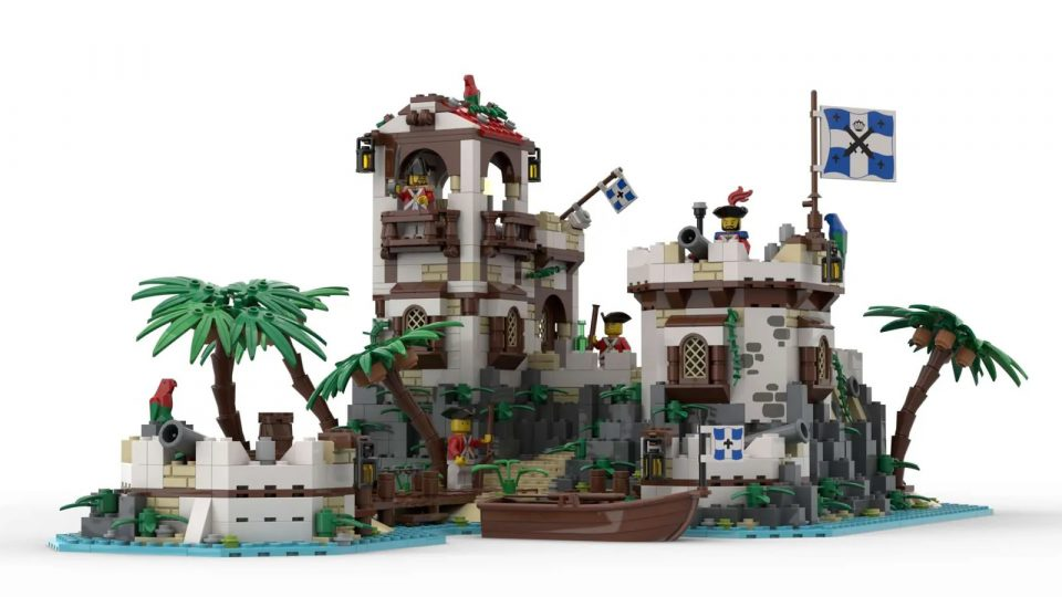 """Render of """"Imperial Island Fort"""" by BrickHammer - Front"""
