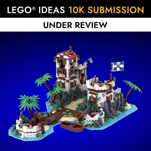 """Thumbnail Image of """"Imperial Island Fort"""" by BrickHammer reaches 10K on LEGO Ideas"""