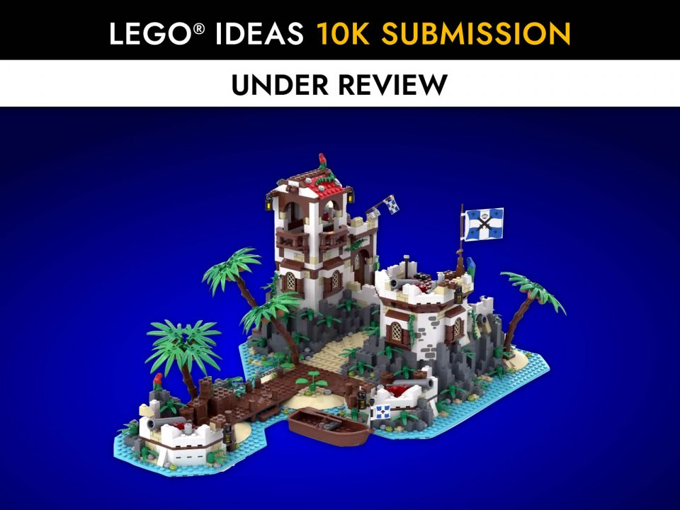 """Featured Image for """"Imperial Island Fort"""" by BrickHammer reaches 10K on LEGO Ideas"""""""