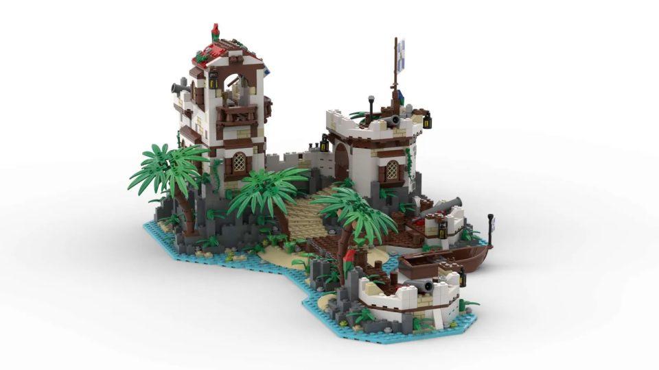 "Render of ""Imperial Island Fort"" by BrickHammer - Back"