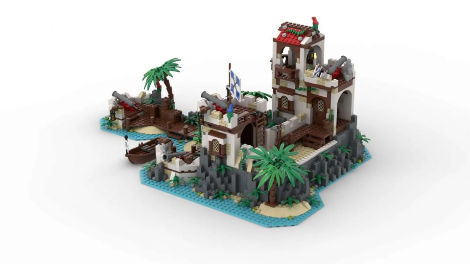 "Render of ""Imperial Island Fort"" by BrickHammer - Side"