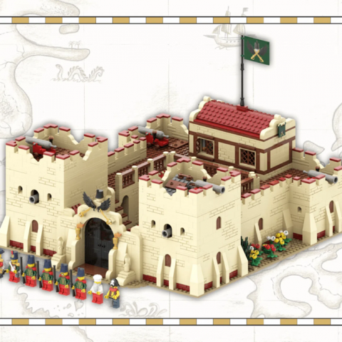 "Thumbnail Image of ""Fortress of Hunyadi"" by Zsolti (@MyFirstMoc)"