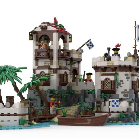 """Thumbnail Image of """"Imperial Island Fort"""" by BrickHammer reaches 10K supporters on LEGO Ideas!"""