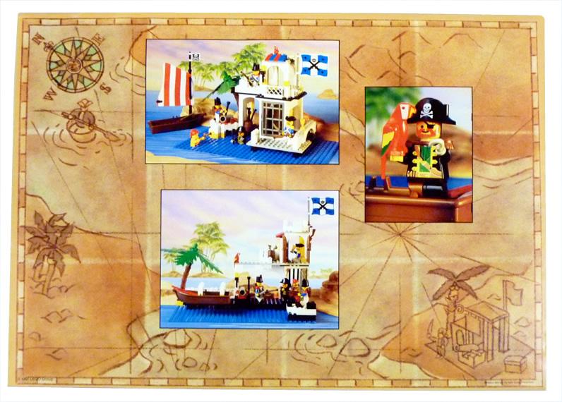 Box Art Scan - LEGO Pirates Set - 6267-Lagoon Lockup - Back
