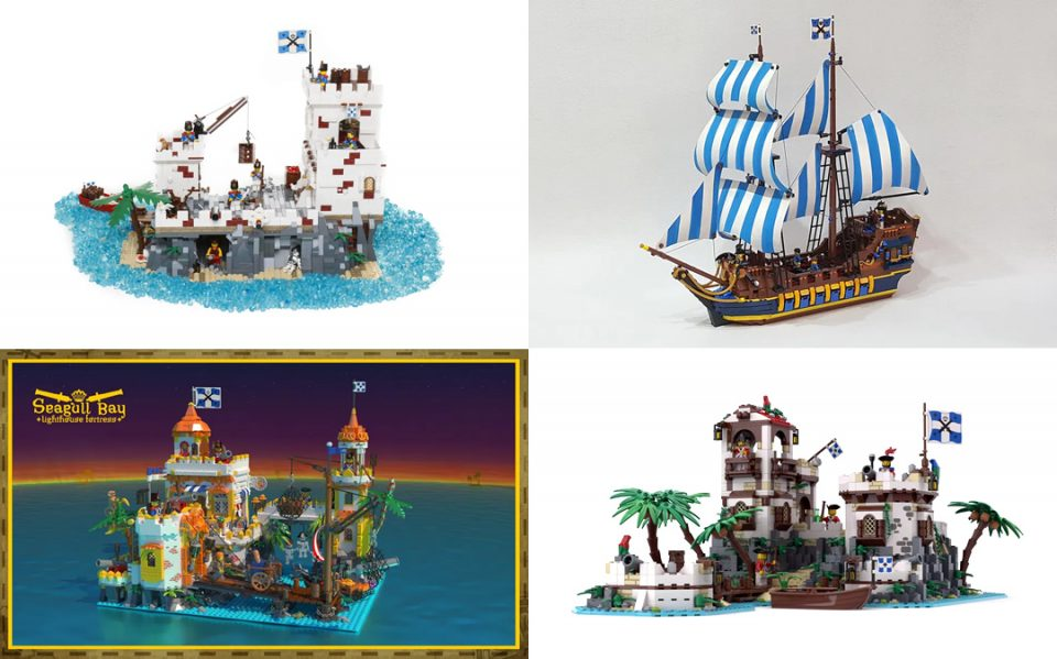 Photos of LEGO Ideas 10K Club Pirate Themed Design Submissions