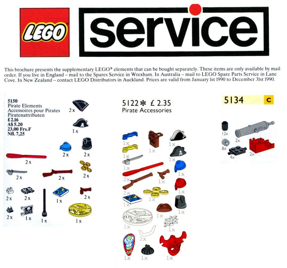 LEGO Service Packs - Pirates