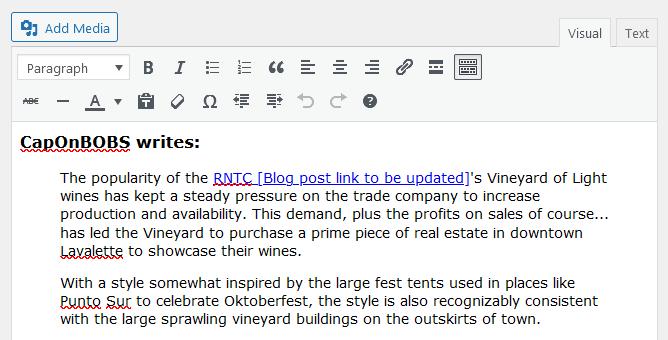 Screenshot of WordPress - Post - Content - Builder Quote