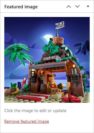 Screenshot of WordPress - Post - Replace Featured Image