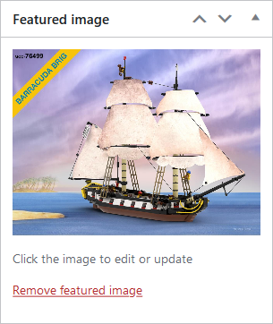 Screenshot of WordPress - Post - New Featured Image Set