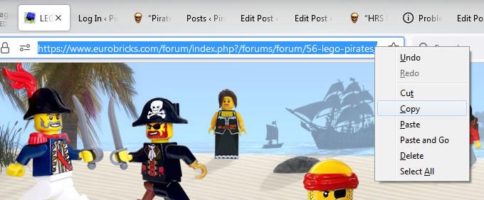Screenshot of WordPress -Copy -Hyperlink from Web Browser
