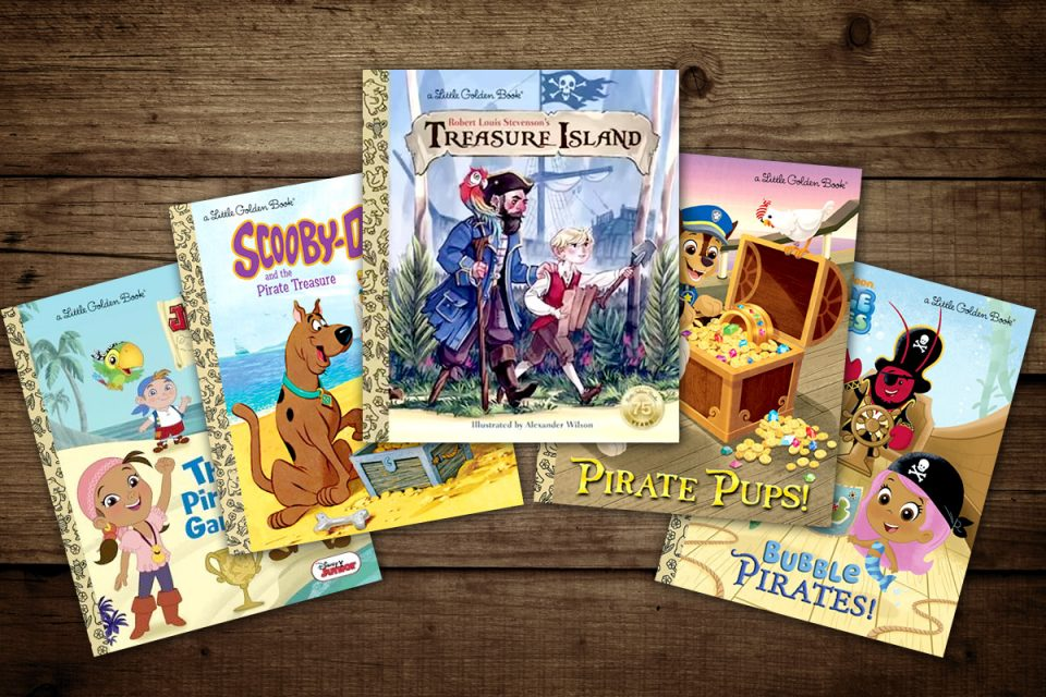 More Pirate Themed Golden books